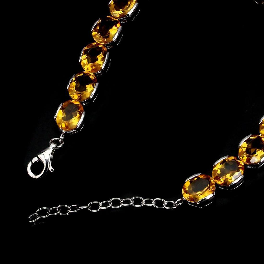 Natural Top Rich Yellow Citrine 95.33 Bracelet - 3
