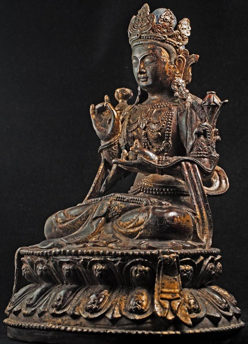 Antique Chinese Buddha Statue - 2