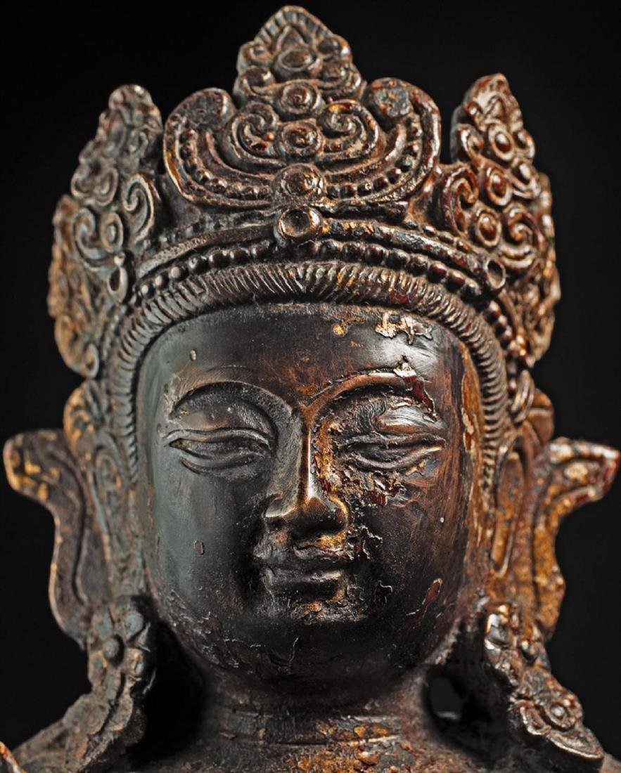 Antique Chinese Buddha Statue - 5