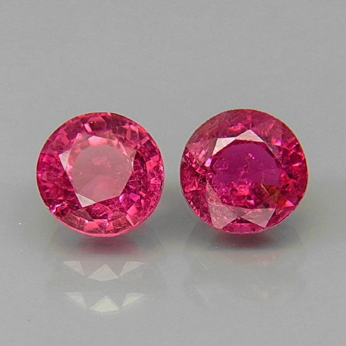 Natural Top Pink Tourmaline Pair 5.5 MM