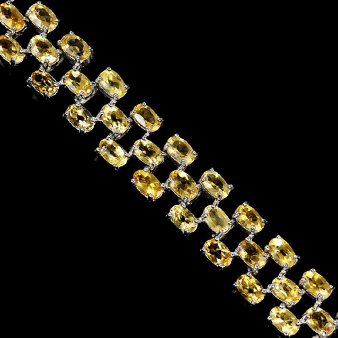 NATURAL ORANGISH YELLOW CITRINE Bracelet - 2