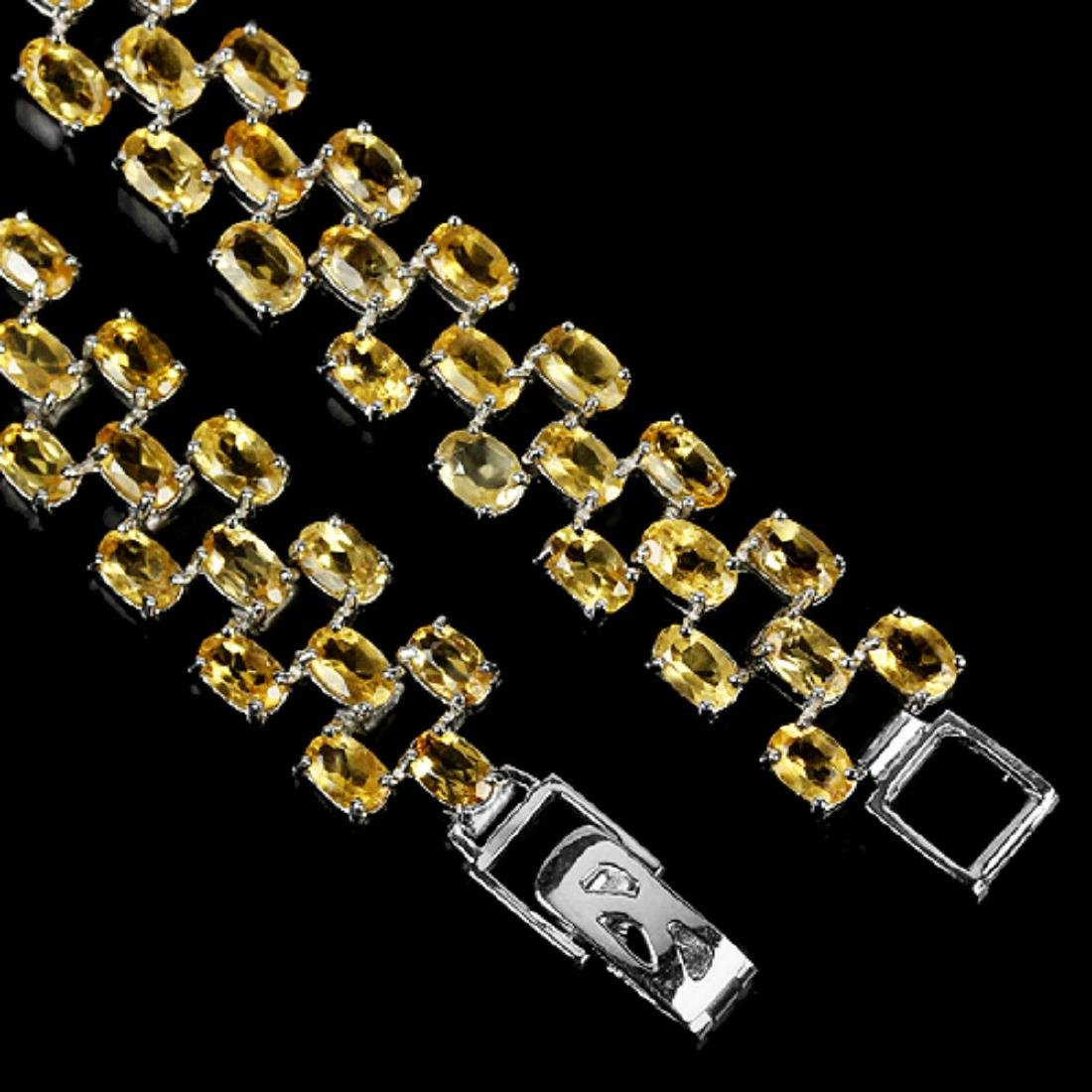 NATURAL ORANGISH YELLOW CITRINE Bracelet - 3