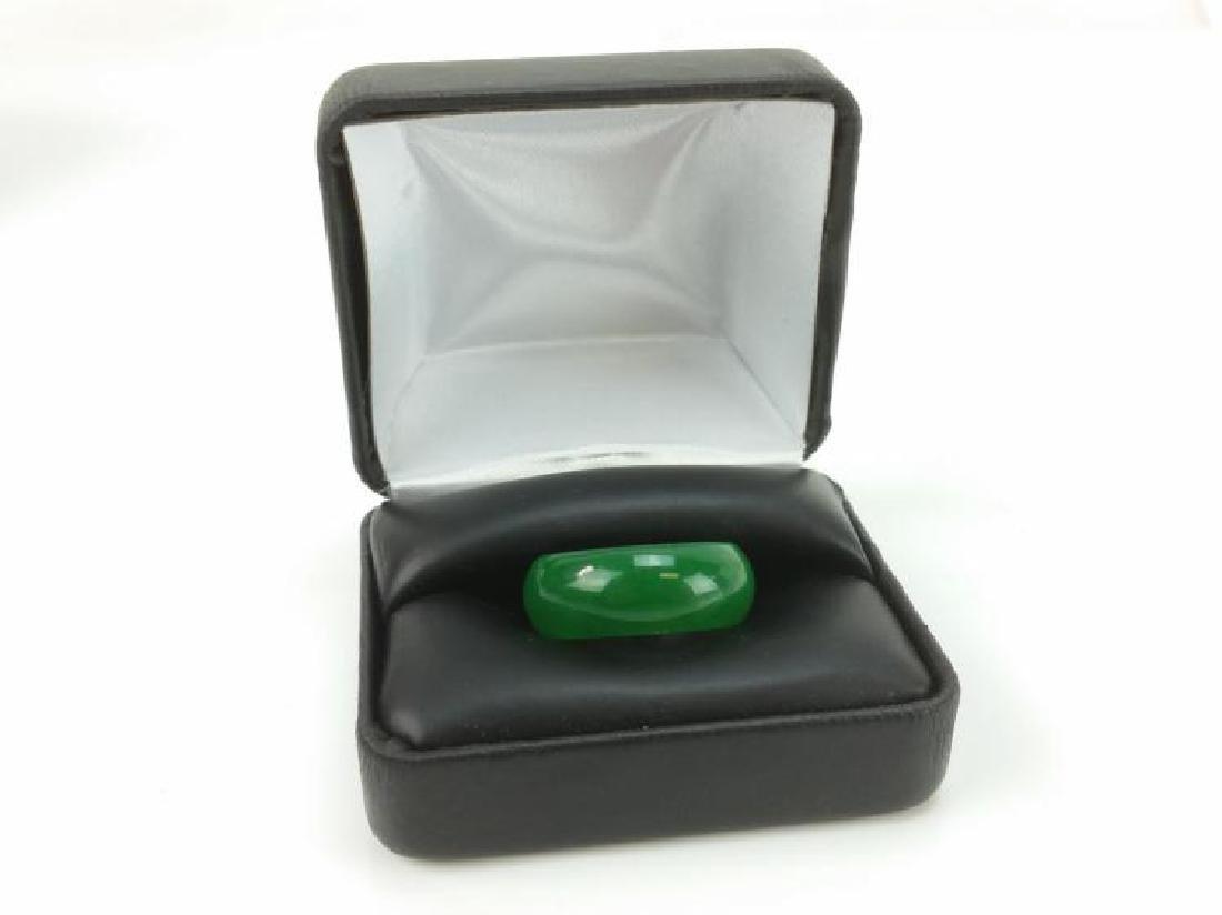 BEAUTIFUL 23.5 CT GREEN JADE RING