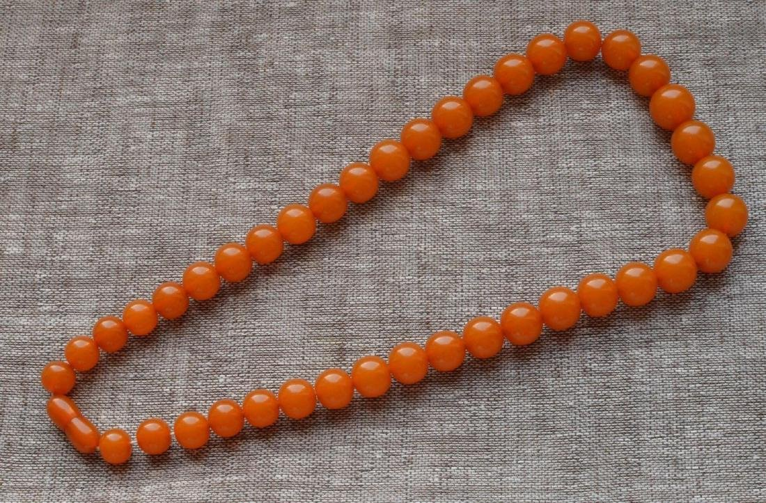 Antique Natural Amber Necklace - 2