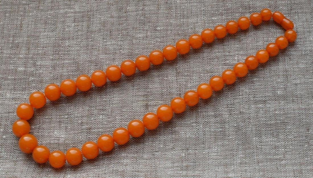 Antique Natural Amber Necklace - 3