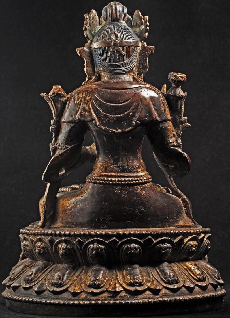 Antique Chinese Buddha Statue - 4