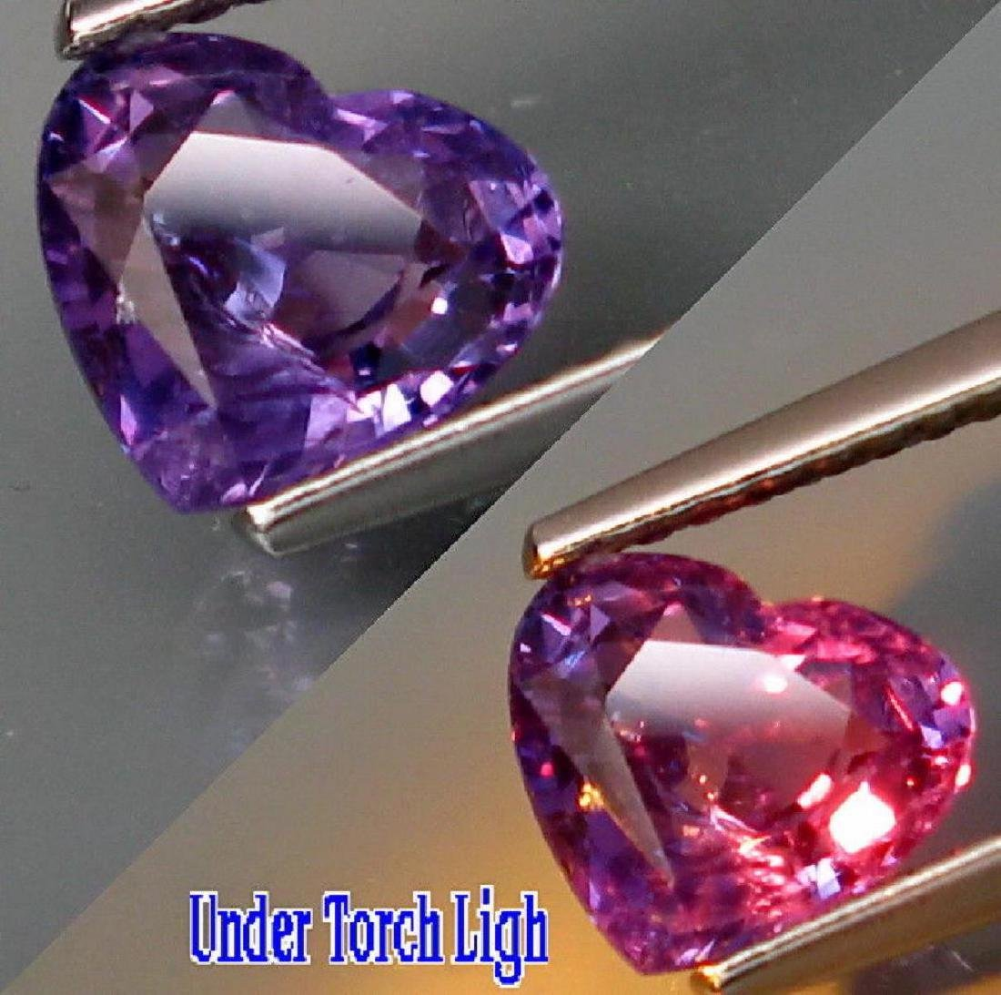 Natural Color Change Sapphire Madagascar HEART 1.50 Ct