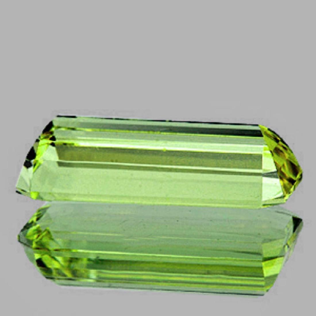 Natural Canary Green Apatite 23x8 MM - VVS - 2