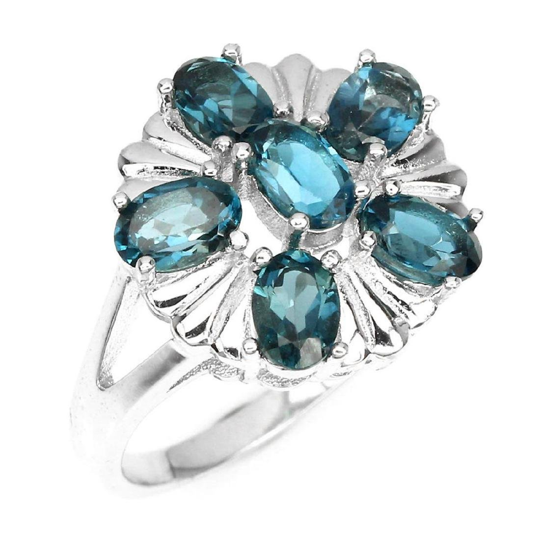 Natural London Blue Topaz Ring - 2