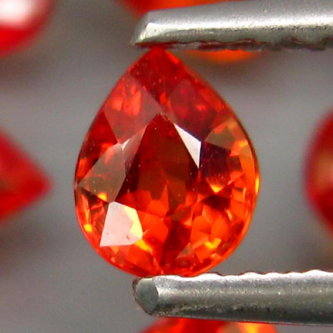 Natural Pear Red Sapphire 4.20 Cts - 2