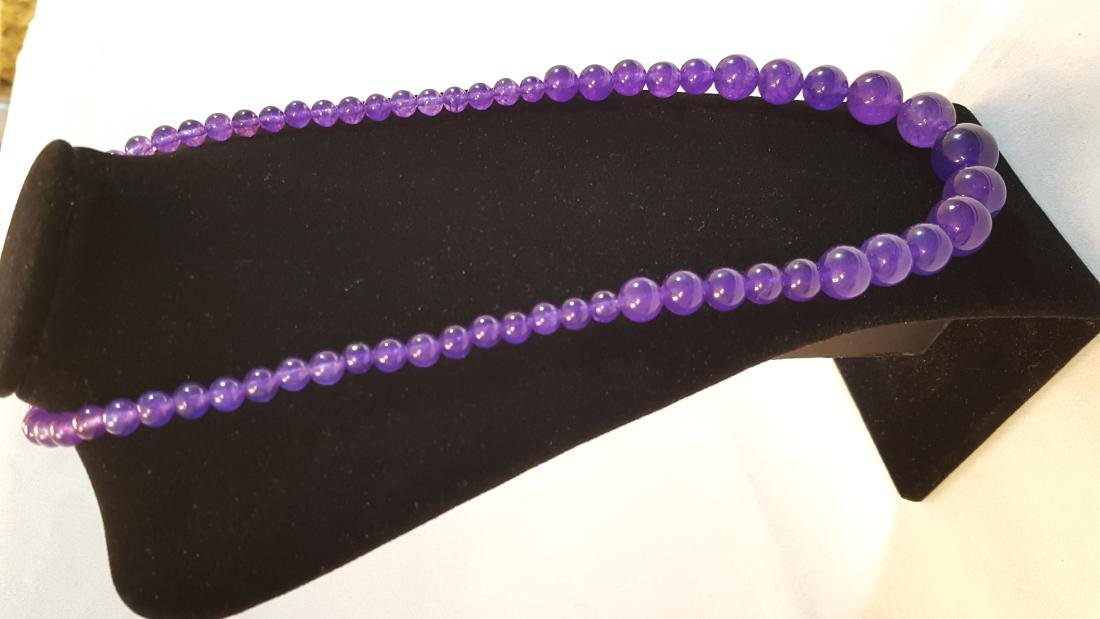 BEAUTIFUL AMETHYST NECKLACE 209 CTTW - 2