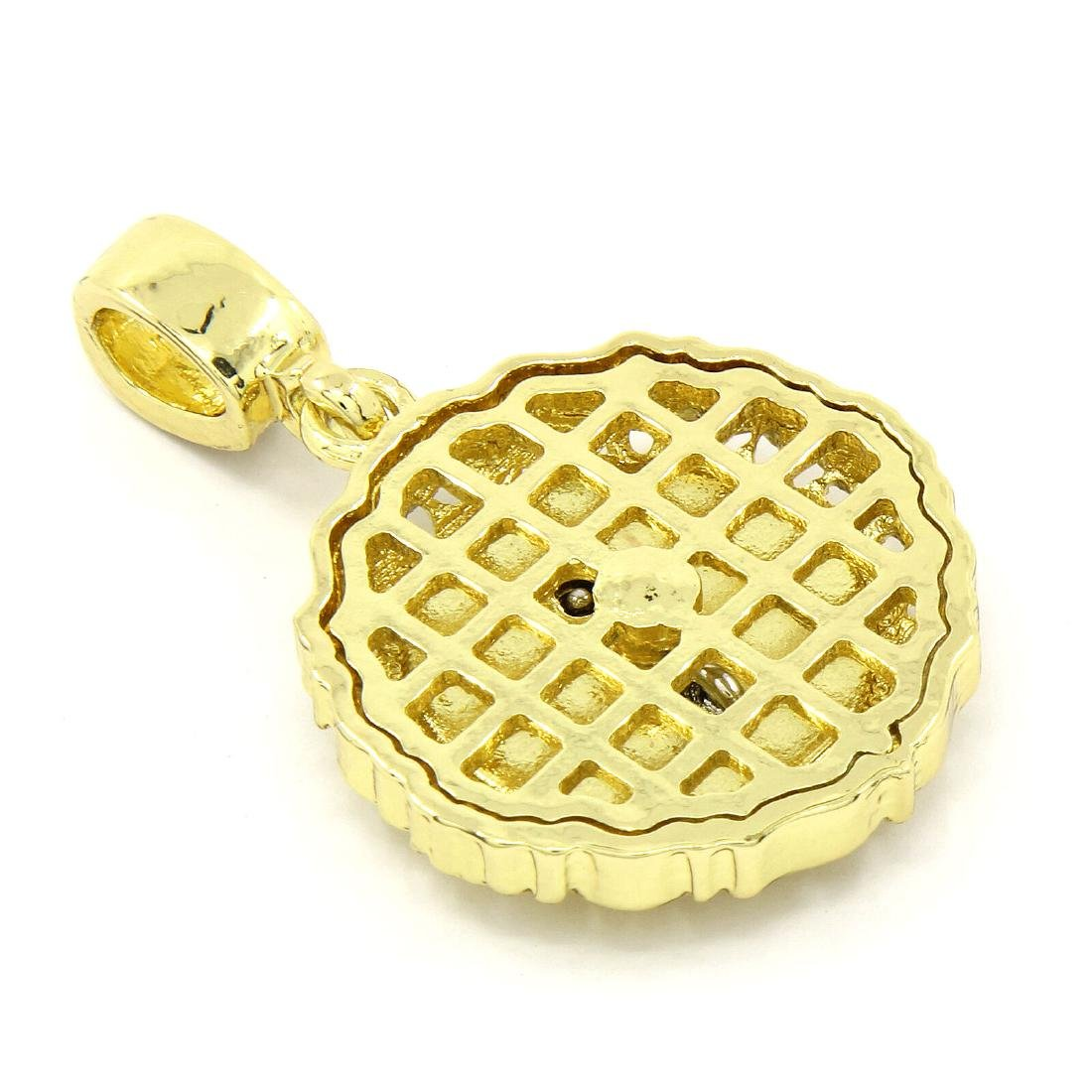 Mens 14K Gold Plated 50 Cent Peso Pendant. - 2