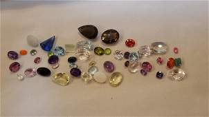 OVER 225 CTTW MIXED COLORED GEMSTONES