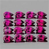 Natural  Rhodolite Garnet 12 Pcs 5x3 MM  FL