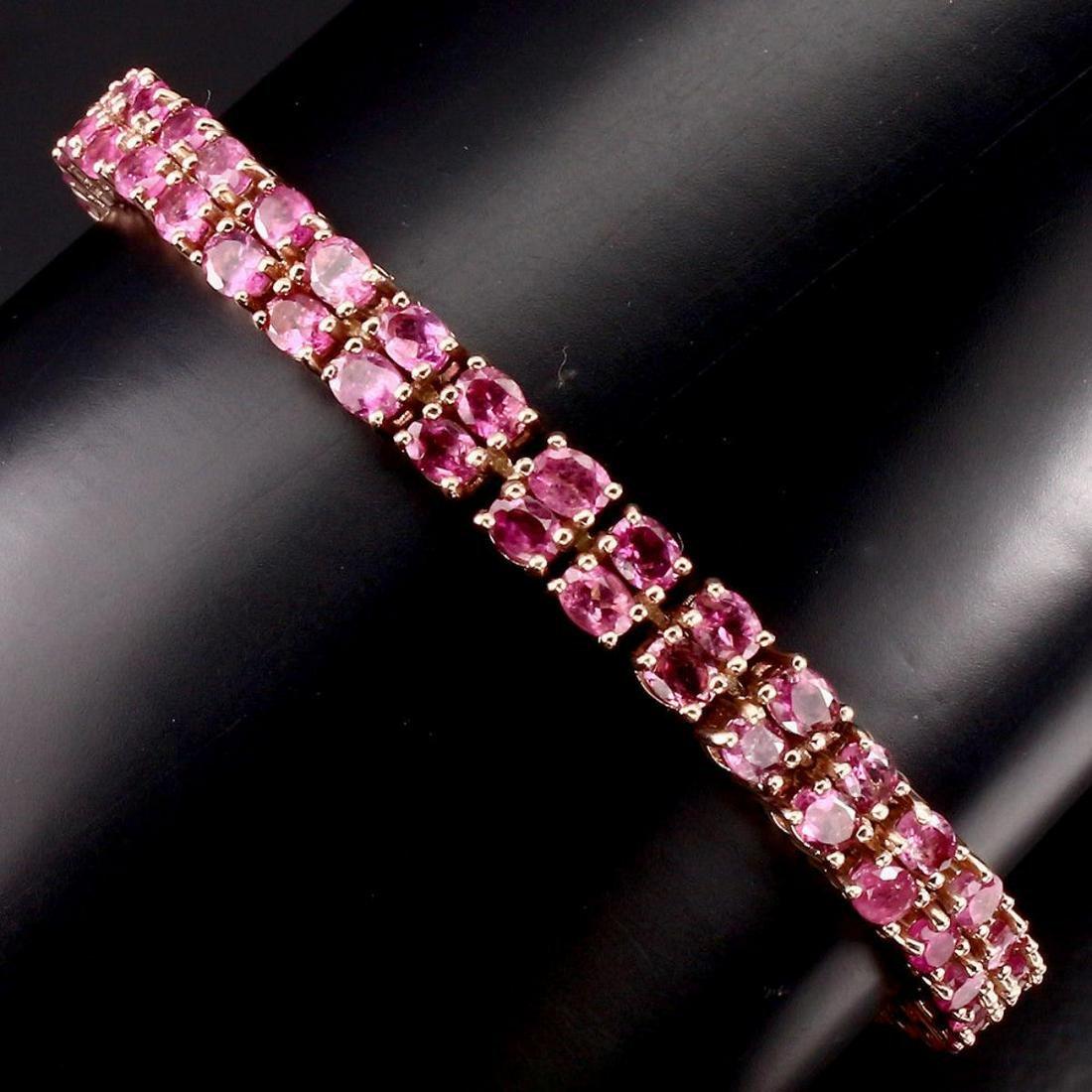Natural Top Rich Pink Tourmaline 100.83 Ct Bracelet