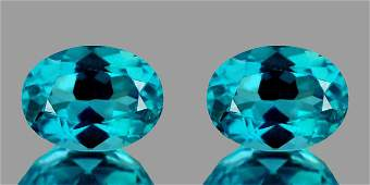 Natural Apatite Paraiba Blue Pair 7 x 5 mm  VVS