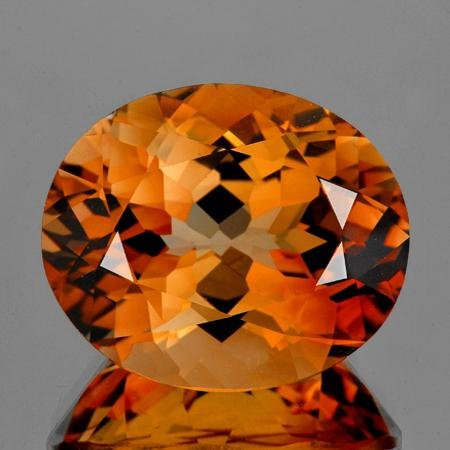 Natural Oval AAA Champagne Imperial Topaz - Flawless