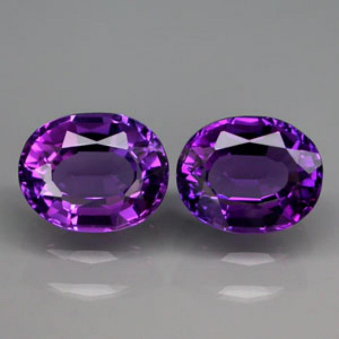 Natural Amethyst Pair 20.21 Carats - VVS