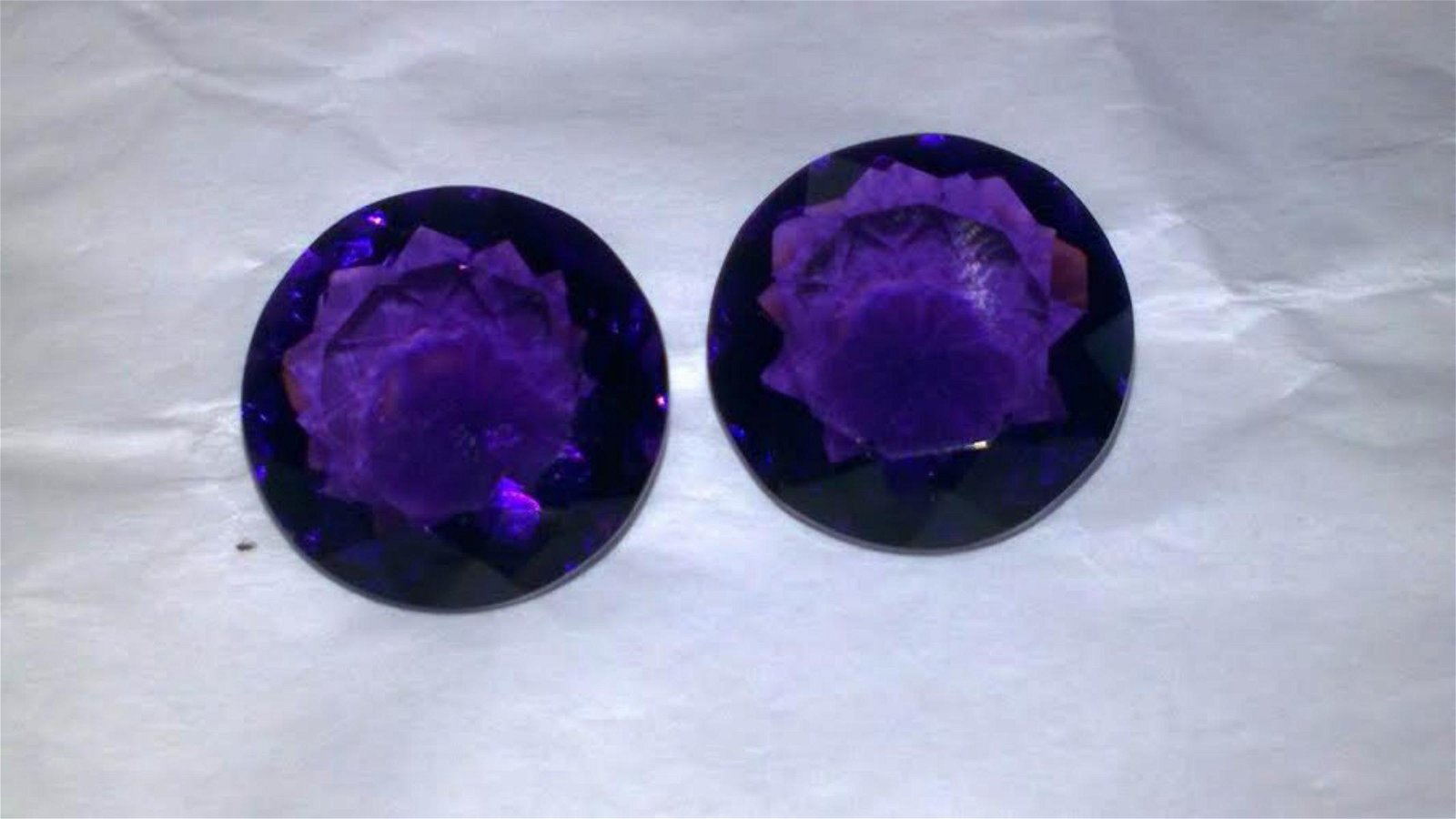 Natural Amethyst Pair 31.95 Carats - VVS