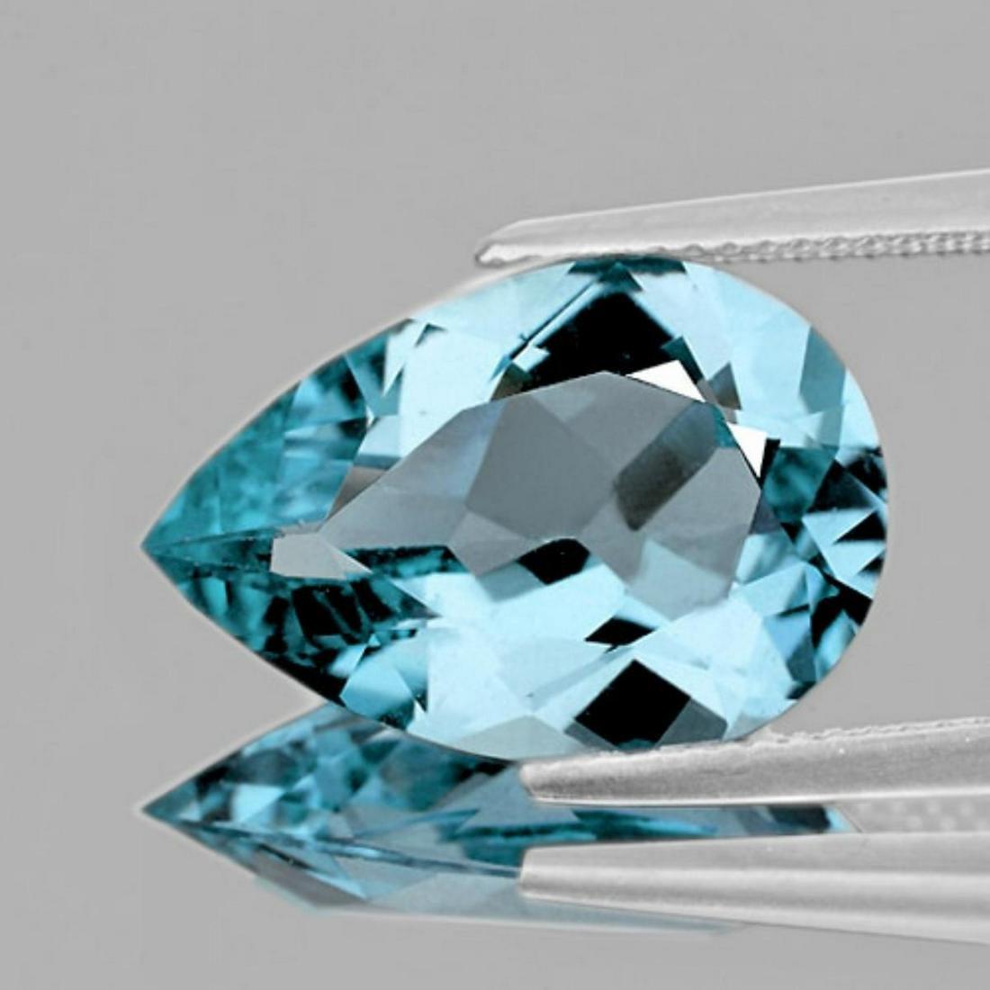 Natural SANTA MARIA BLUE AQUAMARINE 9x6 MM - FL