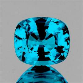 Natural Premium Electric Blue Zircon 4.55 Ct Certified