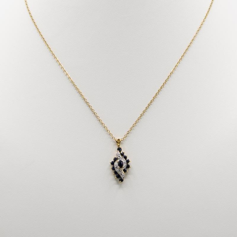 Stunning 1.19 Ct Sapphire Diamond Designer Pendant