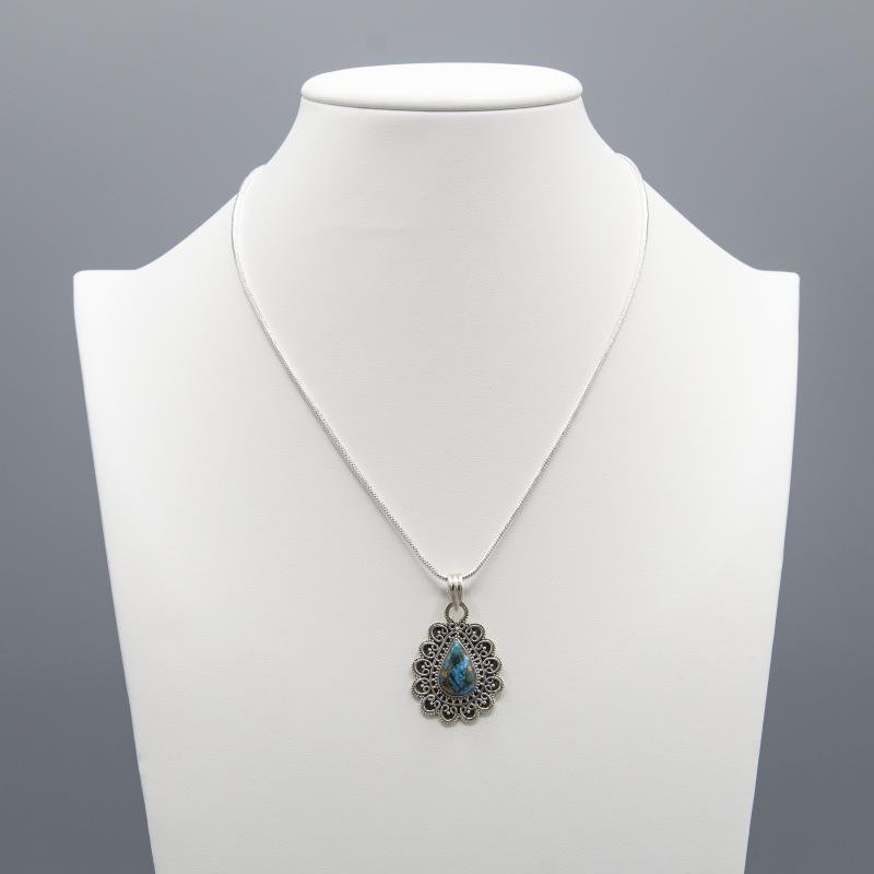 GORGEOUS 3.25 CT NATURAL BLUE TURQUOISE PENDANT