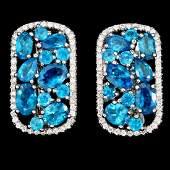 Natural Paraiba Blue Apatite Earrings