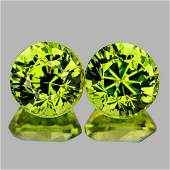 Natural AAA Green Yellow Mali Garnet PairFlawlessVVS