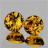 Natural  AAA Yellow Mali Garnet PairFlawlessVVS