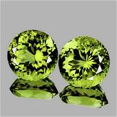 NATURAL AAA Green Yellow Mali Garnet Pair  FL