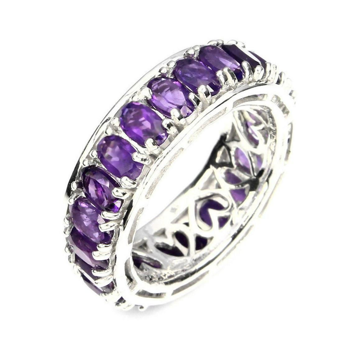 Natural Intense Purple Amethyst Ring