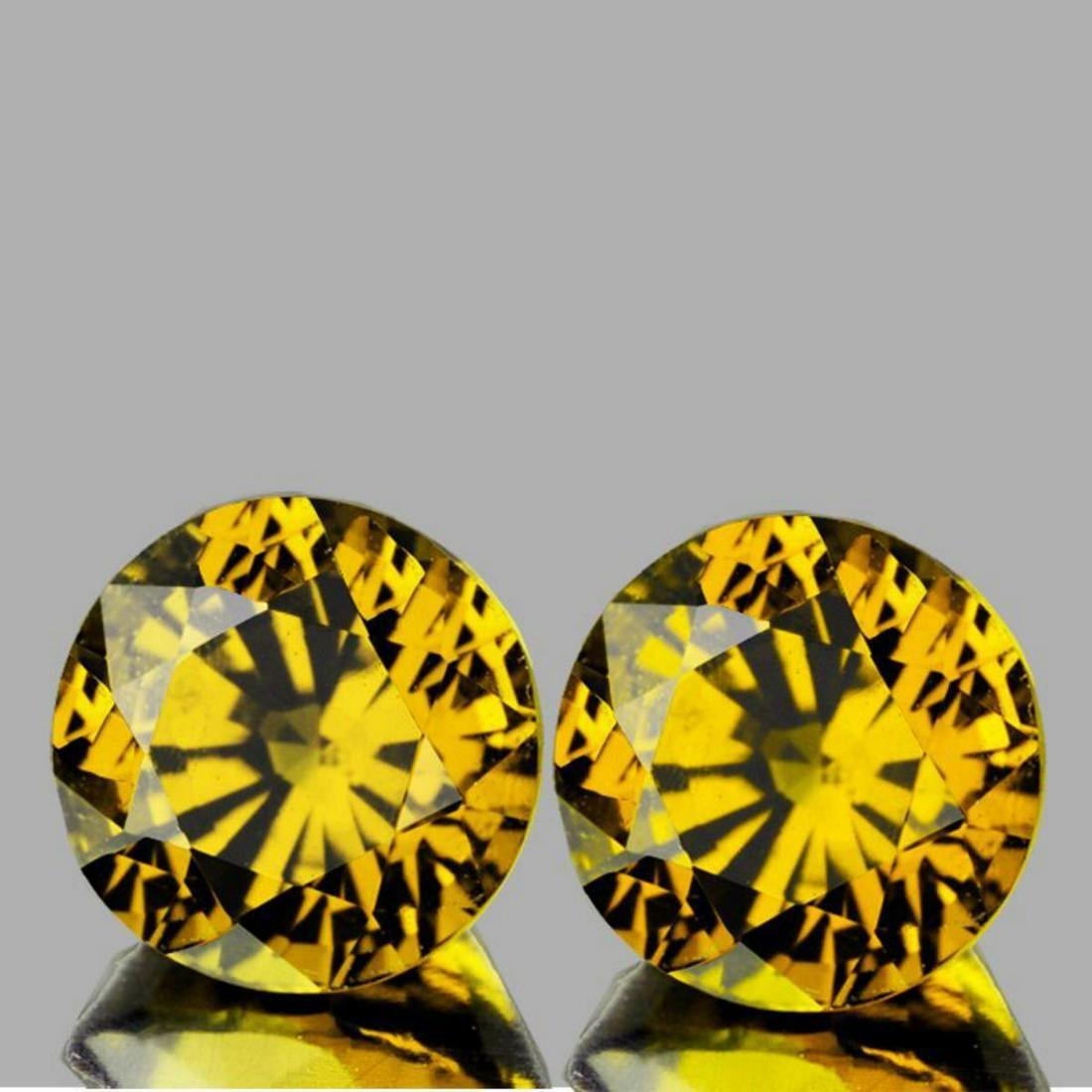 Natural Rare Yellow Mali Garnet Pair{Flawless-VVS}