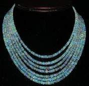Natural Etopian Untreated White Opal Necklace