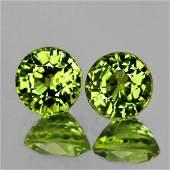 Natural AAA Green Yellow Mali Garnet Pair  FL
