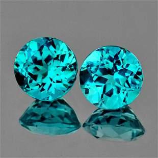 Natural Rare Brazil Blue Apatite 7.00 MM - VVS
