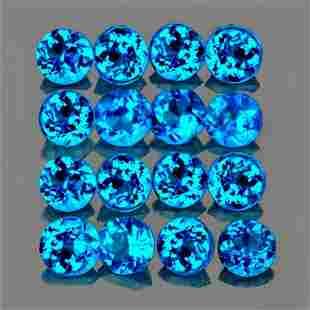 Natural AAA Brazil Paraiba Blue Apatite 16 Pcs