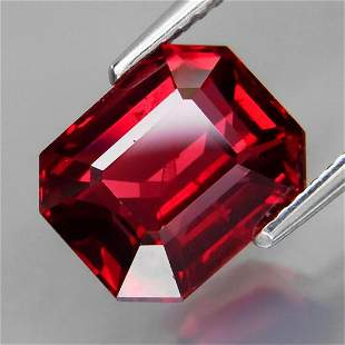 Natural Cherry Red Rhodolite Garnet 5.20 Cts Untreated