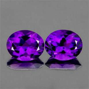 Natural  Purple Amethyst Pair  {VVS}