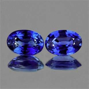 Natural Cornflower Blue Sapphire Pair [Flawless-VVS]