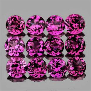 Natural Pink Purple Rhodolite Garnet 30 Pcs - Untreated