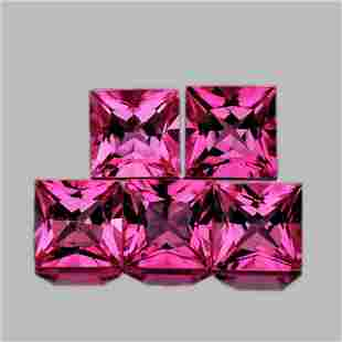 NATURAL HOT PINK TOURMALINE 4 MM (5 Pcs) - FL