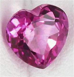 Hot Pink Heart Topaz 34.99 Carats - VVS