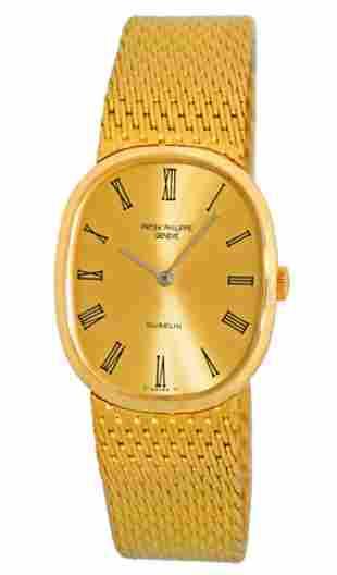 "Patek Philippe 18k Gold Gübelin ""Golden Ellipse"" Watch"