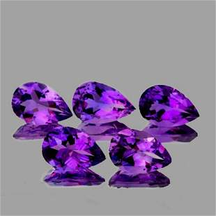 NATURAL  PURPLE AMETHYST 6 Pcs[FLAWLESS-VVS]