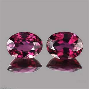 Natural AAA Raspberry Pink Rhodolite Garnet  Pair - FL