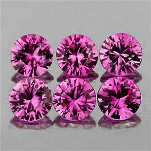 Natural Untreated AAA Pink Sapphire 6 Pc{Flawless-VVS1}