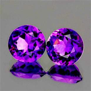 Natural Purple Amethyst Pair [Flawless-VVS]
