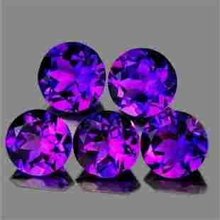Natural Purple Amethyst 5 Pcs[Flawless-VVS]
