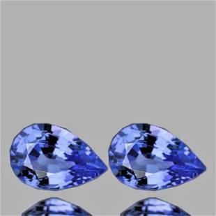 Natural Ceylon Blue Sapphire Pair {Flawless-VVS}
